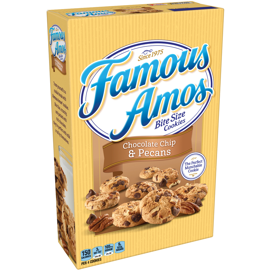 Famous Amos Chocolate Chip Bite Size Cookies, 12.4 oz (Pack of 12)
