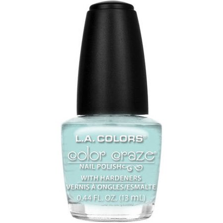 L A  Colors Color Craze Nail Polish With Hardeners  Beach Babe  0 44 Oz
