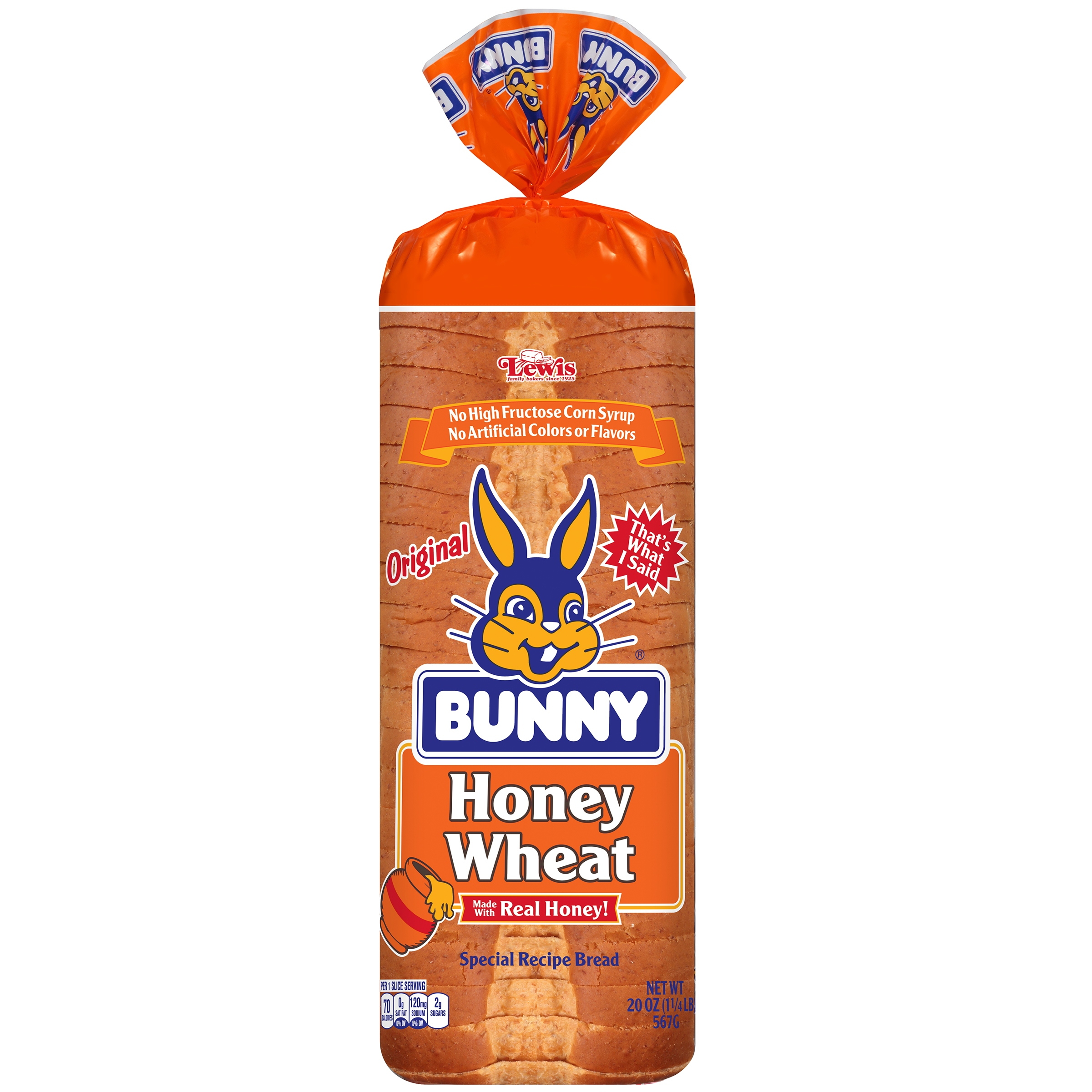 Bunny® Original Honey Wheat Bread 20 oz. Loaf