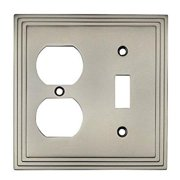 Cosmas 25068-SN Satin Nickel Single Toggle / Duplex Combo Electrical Outlet Wall Plate / Cover