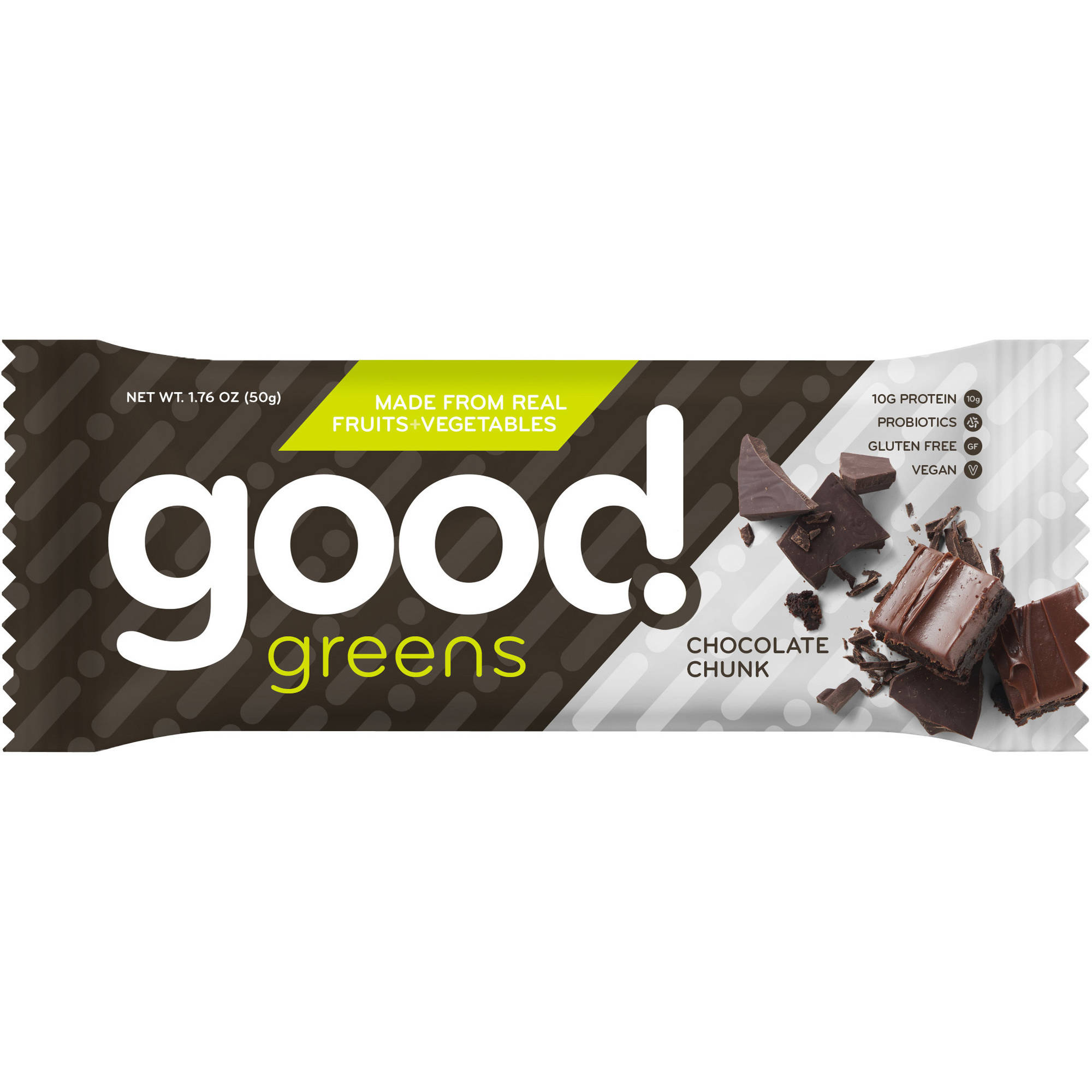 Good Greens Chocolate Chunk Nutrition Bars, 1.76 oz, 12 count
