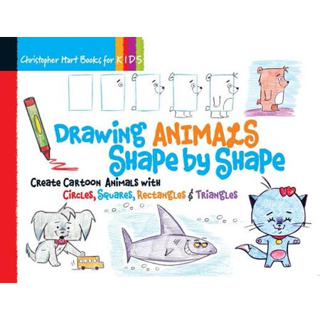 Drawing Animals Shape by Shape : Create Cartoon Animals with Circles, Squares, Rectangles & Triangles - Easy Halloween Cartoon Drawings