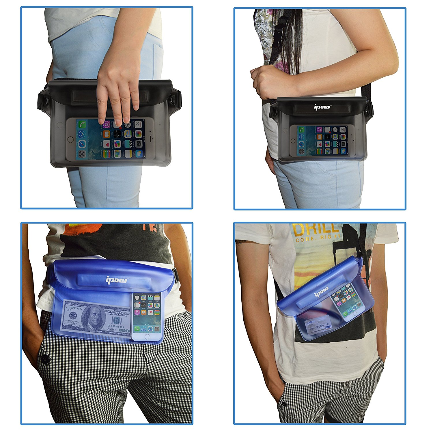 cdf71d0d61c Waterproof Pouch Bag Case with Waist Strap