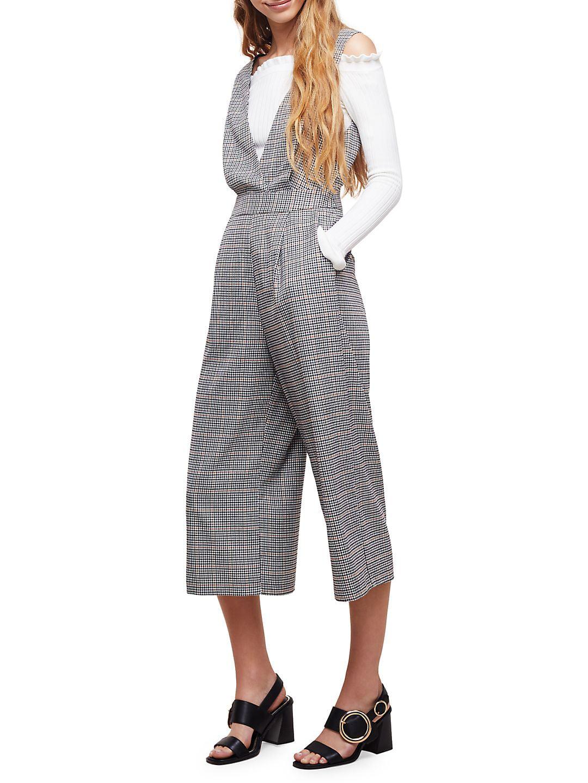 Checkered Sleeveless Jumpsuit
