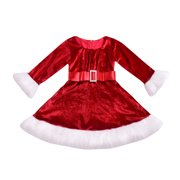 Baby Girl Toddler Christmas Party Tutu Dress Pageant Wedding Princess Dresses Red 100