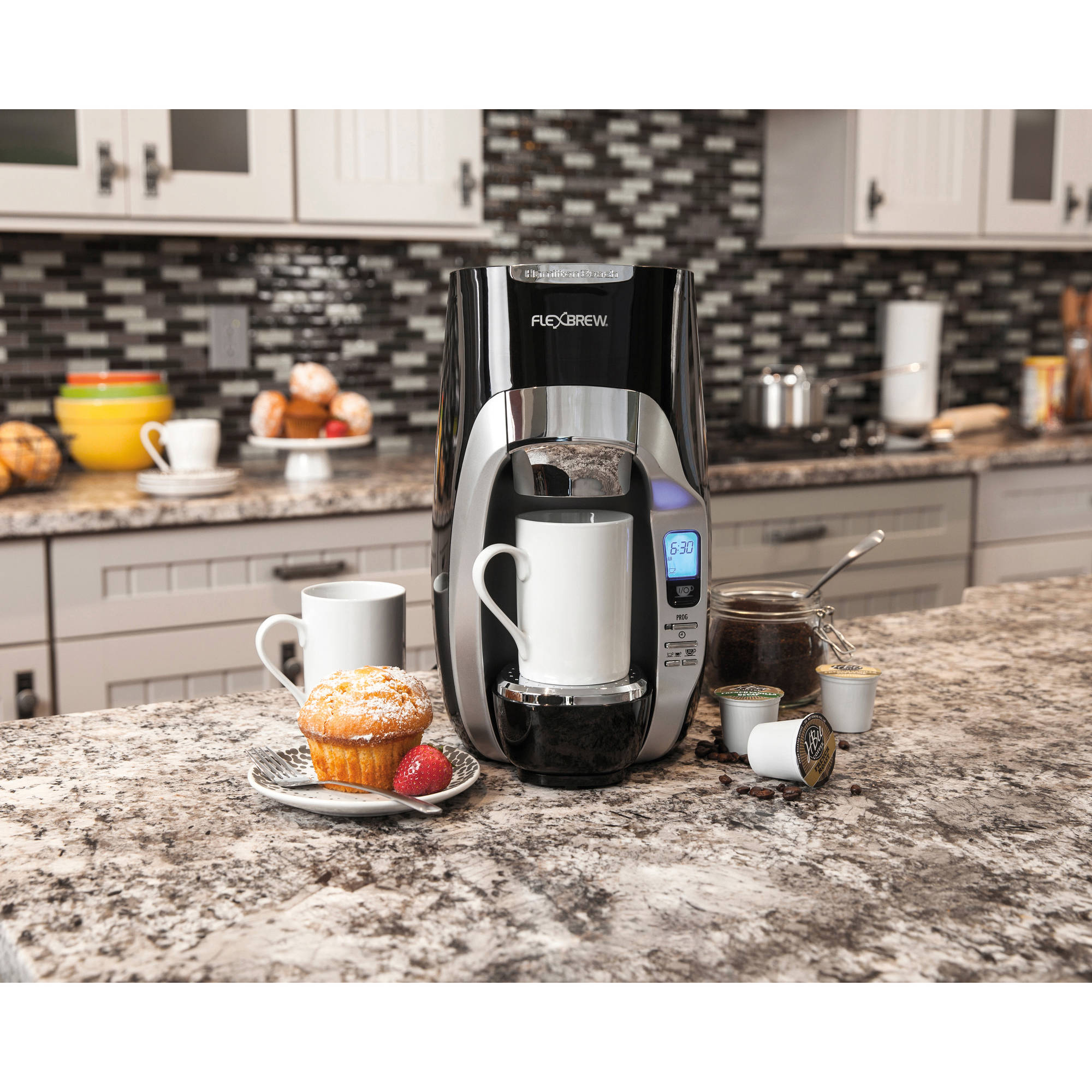 Hamilton Beach FlexBrew Single Serve Coffee Maker with Removable 40oz Reservoir | Model# 49996
