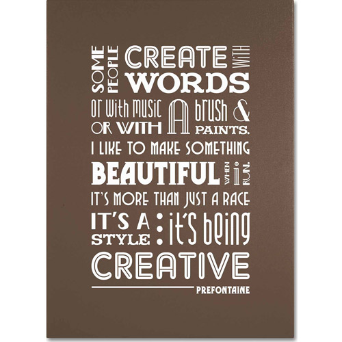 "Trademark Fine Art ""Creative Running II"" Canvas Art by Megan Romo"