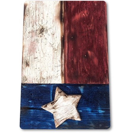 Tin Sign Texas Flag Metal Decor Rustic Wall Art Store Shop Bar Cave B070 By Tin World