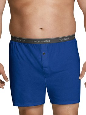 Fruit of the Loom Big Men's Assorted Knit Boxers, 6 Pack