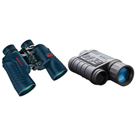 Offshore Star - Bushnell 260140 4.5 X 40mm Equinox Z Digital Night Vision Monocular & Tasco 200142 Offshore 10 X 42mm Waterproof Porro Prism Binoculars