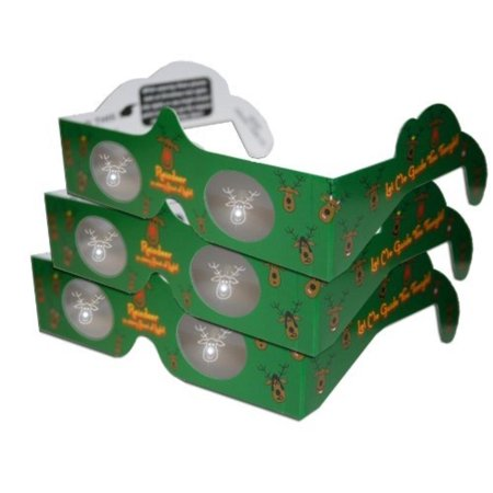 3D Christmas Glasses - Holiday Specs -REINDEER - 3 PAIRS - Transform Christmas Lights Into Magical Images, 3 PAIRS of REINDEER Holiday Eyes.., By 3Dstereo Holiday Eyes Glasses