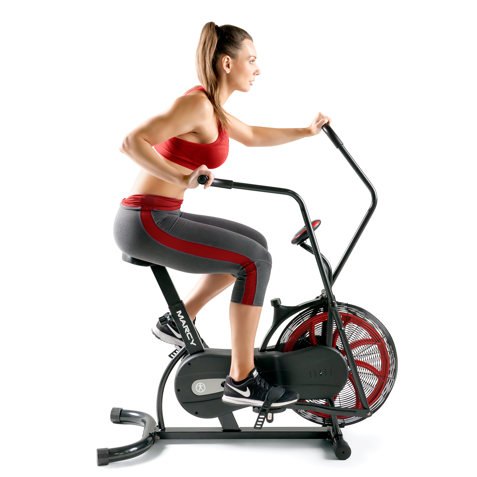 Marcy Pro Air Resistant Cardio Fan Bike Home Gym Full Body Workout Exercise NS-1000