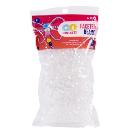 Go Create! Bicone Crystal Faceted Beads, 4oz.