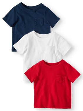 370c1aa7 Product Image Garanimals Solid Pocket T-Shirts, 3pc Multi-Pack (Baby Boys)