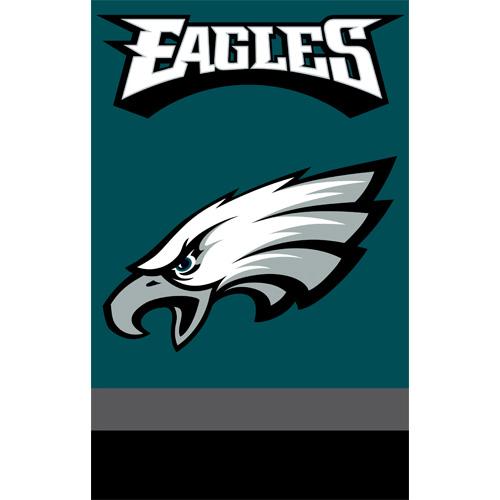 Party Animal Eagles Applique Banner Flag