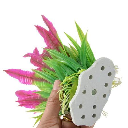 Fish Tank Manmade Plastic Decorative Underwater Aquaric Plant Grass 2pcs - image 2 de 3