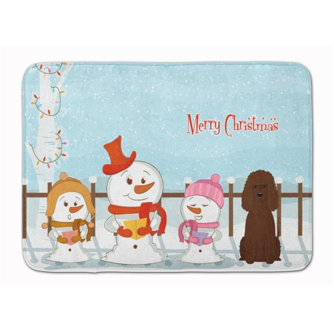 Carolines Treasures BB2394RUG Merry Christmas Irish Water Spaniel Machine Washable Memory Foam Mat - image 1 of 1