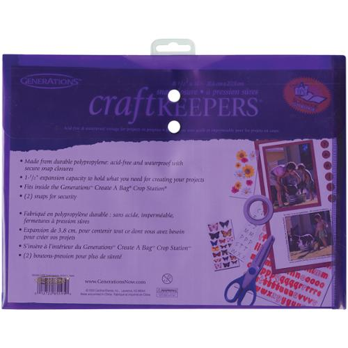 """Craft Keepers Snap Closure Envelope-Assorted Colors 8.5""""X11"""""""
