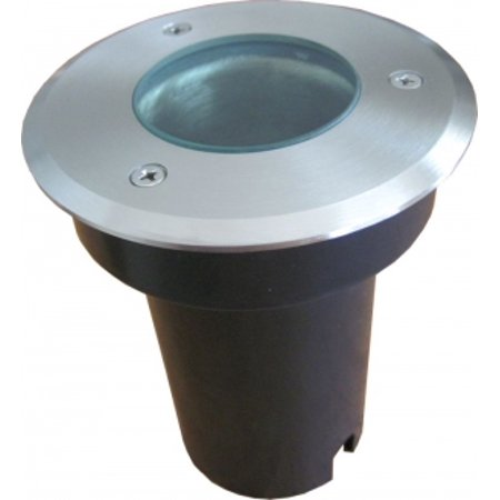 Round Recessed Stainless Steel Light MR16, Walk/Drive-over, IP6