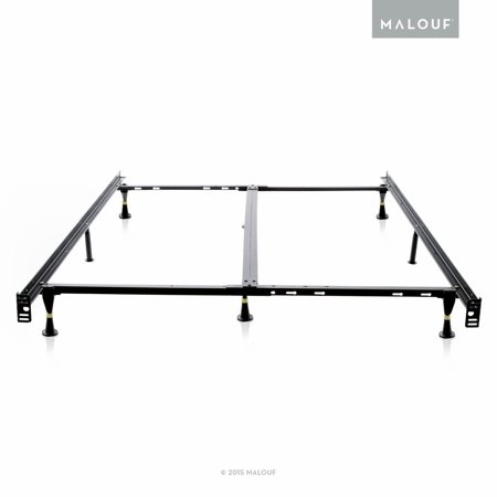 structures low profile universal adjustable metal bed frame with glides universal size walmartcom