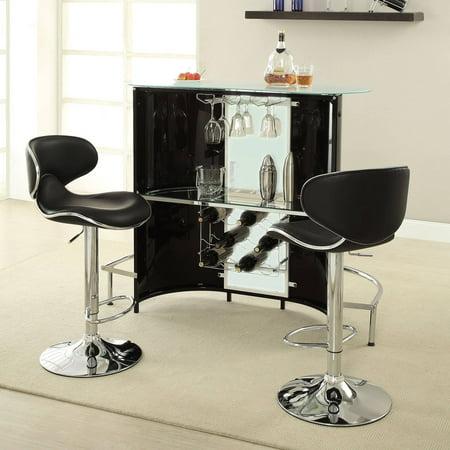 Home Bar Furniture - Coaster Company Bar Unit, Black