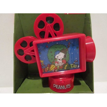 Snoopy Music Lights Animated REEL TO REEL MOVIE PROJECTOR TABLETOP DECOR, PLAYS THE LINUS AND LUCY THEME By Peanuts - Film Reel Decor