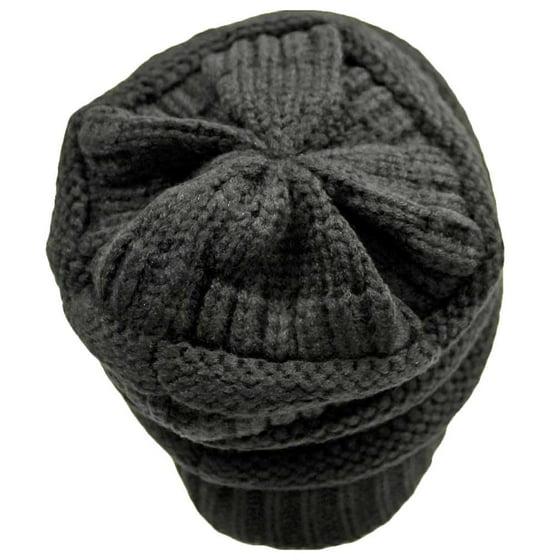 337039b4a84 C.C - C.C Women s Thick Soft Knit Beanie Cap Hat - Walmart.com