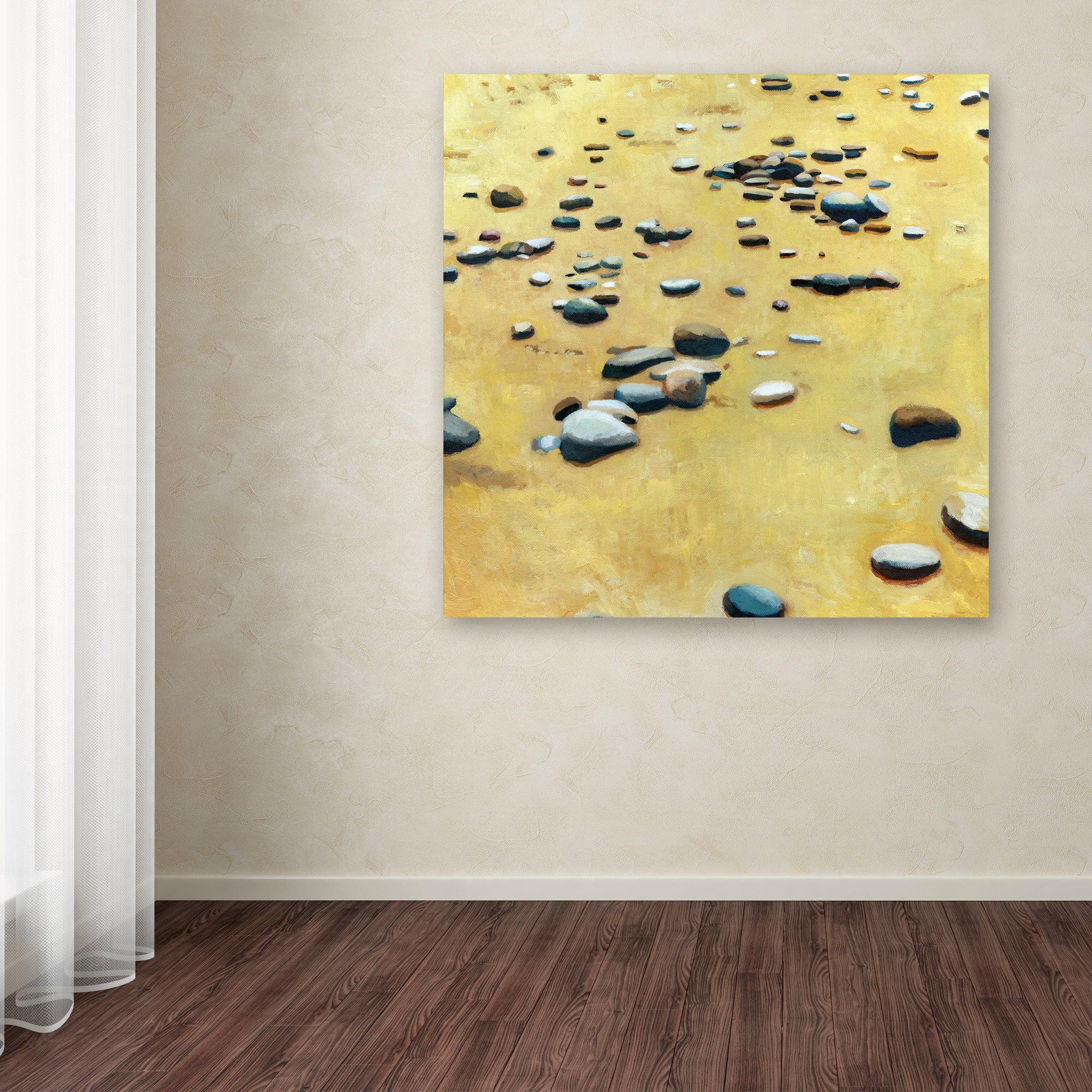 Trademark Fine Art Pebbles On The Beach Canvas Art By Michelle Calkins Walmart Com Walmart Com