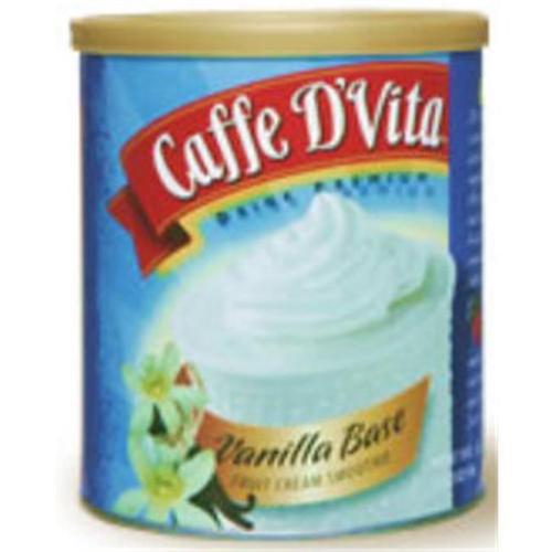 Caffe DVita F-DV-1C-06-VANI-SM Vanilla Base Fruit Cream Smoothie 6 1lb canisters