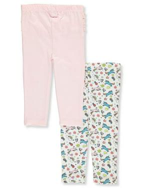 Quiltex Baby Girls' 2-Pack Leggings