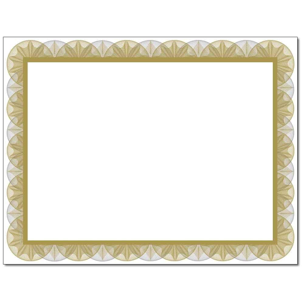 Gold Spiral Laser & Inkjet Certificate Border Paper