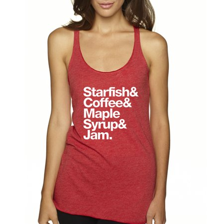Trendy USA 457 - Women's Tank-Top Starfish Coffee Maple Syrup Jam Small Red (Mens Pink Leotard)