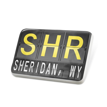 Porcelein Pin SHR Airport Code for Sheridan, WY Lapel Badge – (Products Shr Pin)