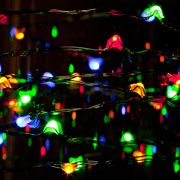 Gerson 39188 - 36 Light 9' Green Wire Multi-Color Battery Operated LED Micro Christmas Light String Set with Timer
