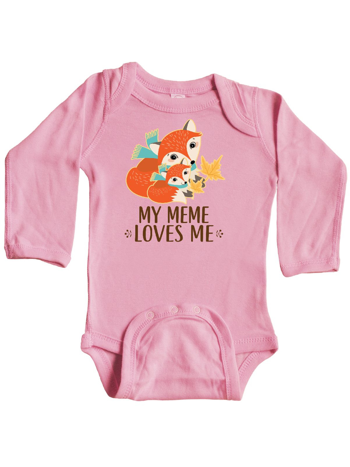 Cute Fox Long Sleeve Creeper inktastic My Nana Loves Me