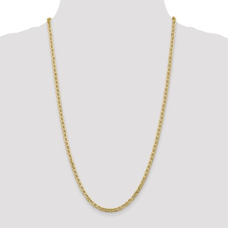 14K Yellow Gold 4.1mm Semi-Solid Anchor Chain 18 Inch - image 4 de 5