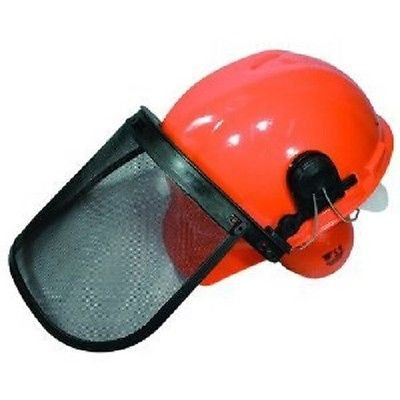 Chainsaw Protective SAFETY HELMET SYSTEM - Hard Hat / Ear Muffs / Face Shield by The ROP Shop