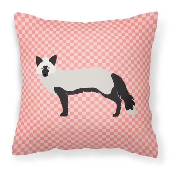 Carolines Treasures BB7871PW1414 Silver Fox Pink Check Fabric Decorative Pillow, 14 x 14 in. - image 1 de 1