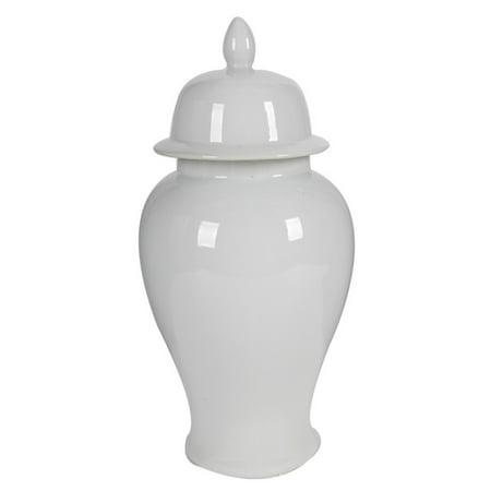 Medium Ceramic Ginger Jar, (Oriental Floral Ginger Jar)