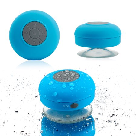 Mini Wireless Portable Shower Car Waterproof Bluetooth Handsfree Mic Speaker with Suction Cup