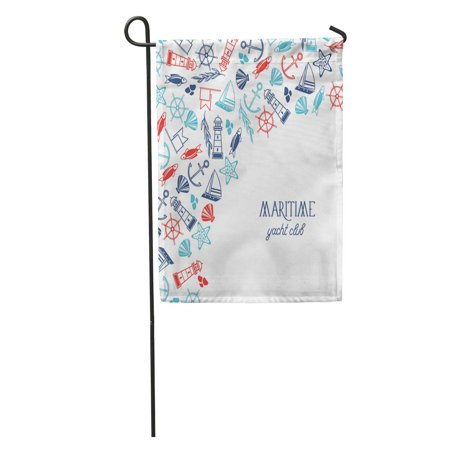 House Divided Garden - LADDKE Maritime Colorful Yacht Club Divided on Two Parts Where There Garden Flag Decorative Flag House Banner 12x18 inch