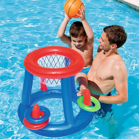 Water Basketball Hoop Pool Float Inflatable Swimming Pool Toy Water Sport Toy Pool Floating Toys for Children - image 2 of 7