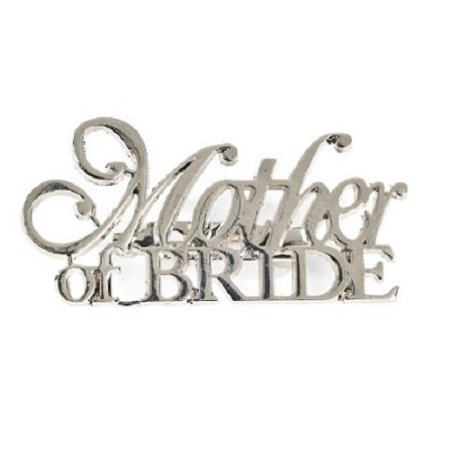 Mother Of The Bride Silver Pin Wedding Bridal Party Gift Decoration](Mother Of The Bride Pin)