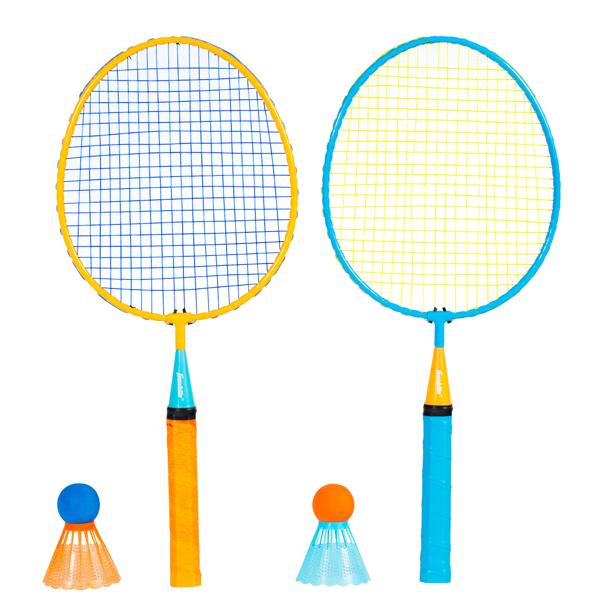 Franklin Sports Smashminton - 2 Oversized Badminton Rackets and 2 Foam Tipped Shuttlecocks