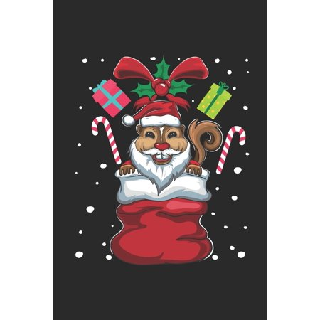 Christmas Animal - Squirrel: Small Lined Notebook (6 X 9 -120 Pages) - Chirstmas Gift and Holiday Planner For Women, Men, Teens And Kids (Paperback) ()
