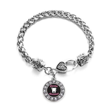 Dental Assistant Circle Charm Braided Bracelet