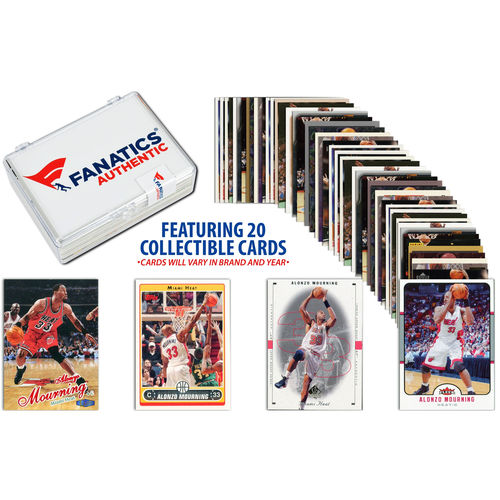Alonzo Mourning Miami Heat Collectible Lot of 15 NBA Trading Cards