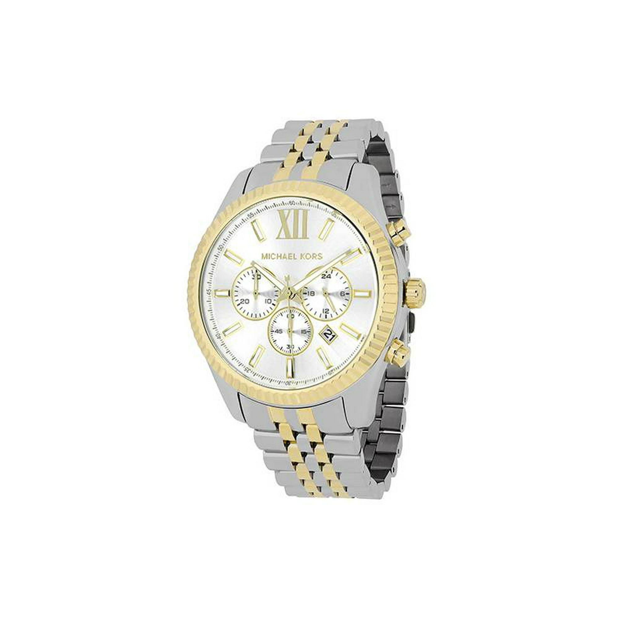 826cf9940eeb Buy Michael Kors Men s Lexington Two Tone Stainless Steel Watch ...