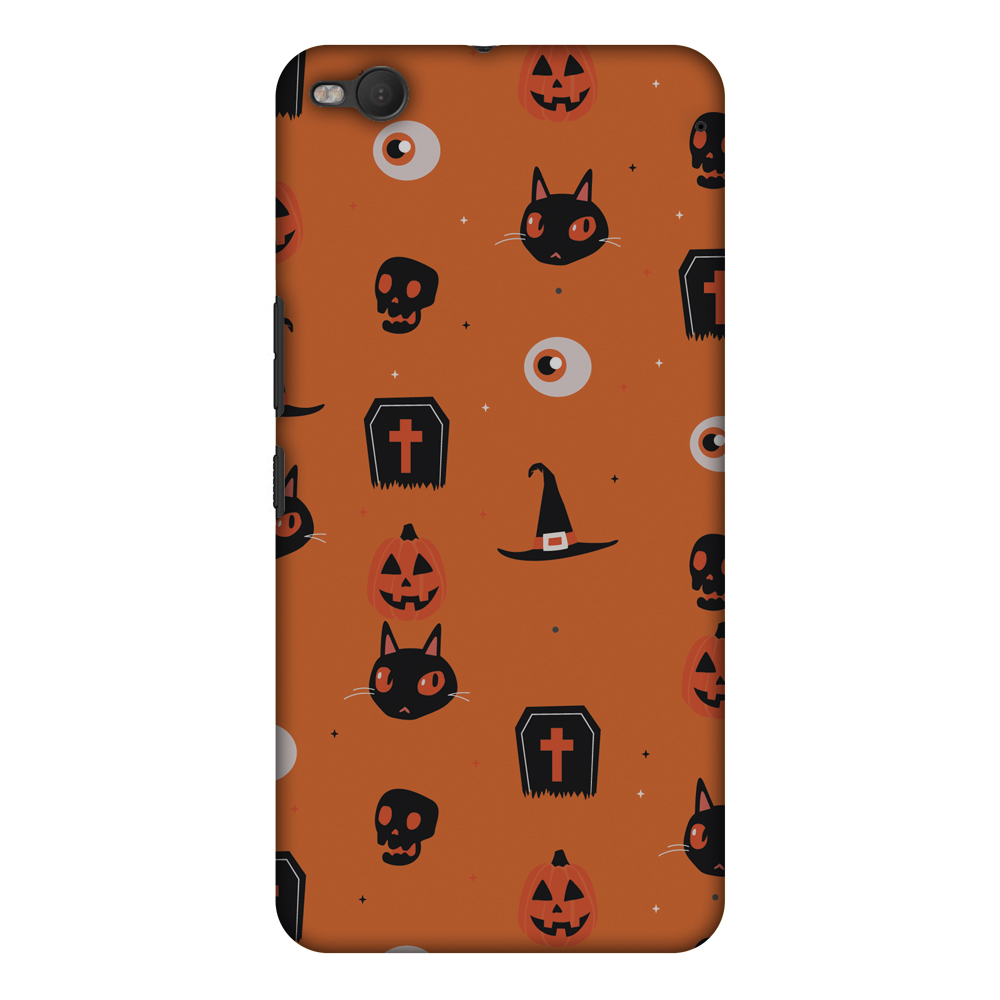 HTC One X9 Case, Premium Handcrafted Printed Designer Hard ShockProof Case Back Cover for HTC One X9 - Spooky Collage
