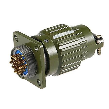 Aviation Connector, 20mm 14P Y2M-14TK Waterproof Male Wire Panel Power ()
